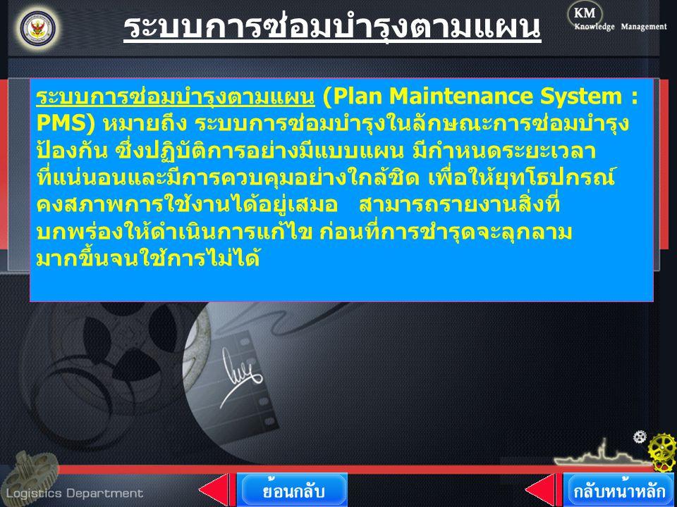 ระบบการซ่อมบำรุงตามแผน