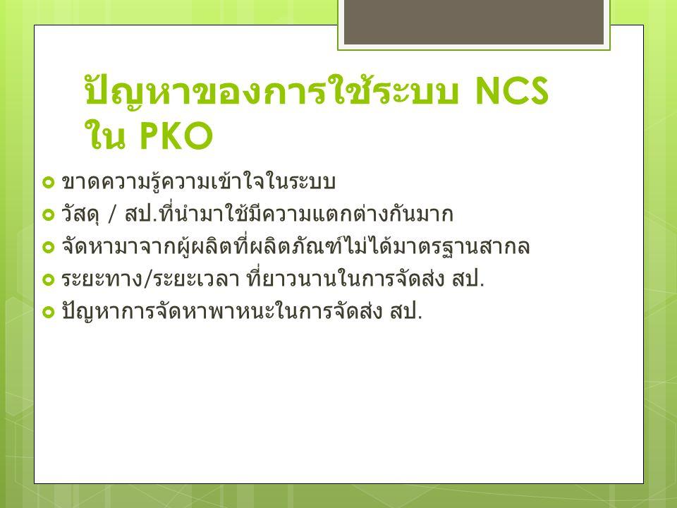 ปัญหาของการใช้ระบบ NCS ใน PKO