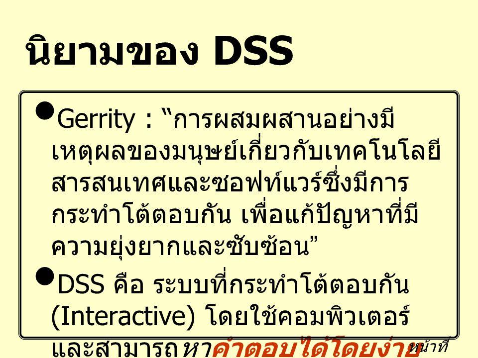 นิยามของ DSS