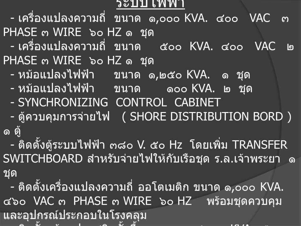 ๕.สิ่งอำนวยความสะดวก ระบบไฟฟ้า