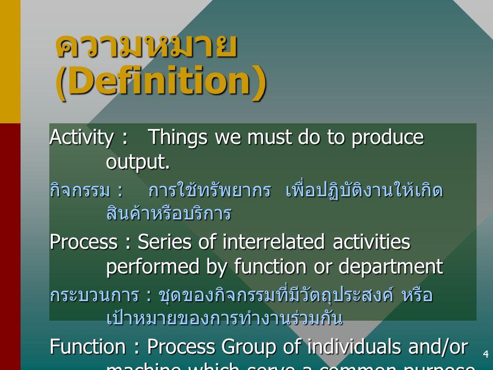 ความหมาย (Definition)