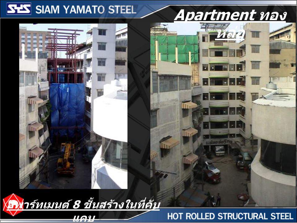 อพาร์ทเมนต์ 8 ชั้นสร้างในที่คับแคบ
