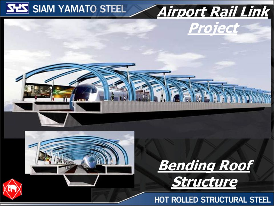 Airport Rail Link Project Bending Roof Structure
