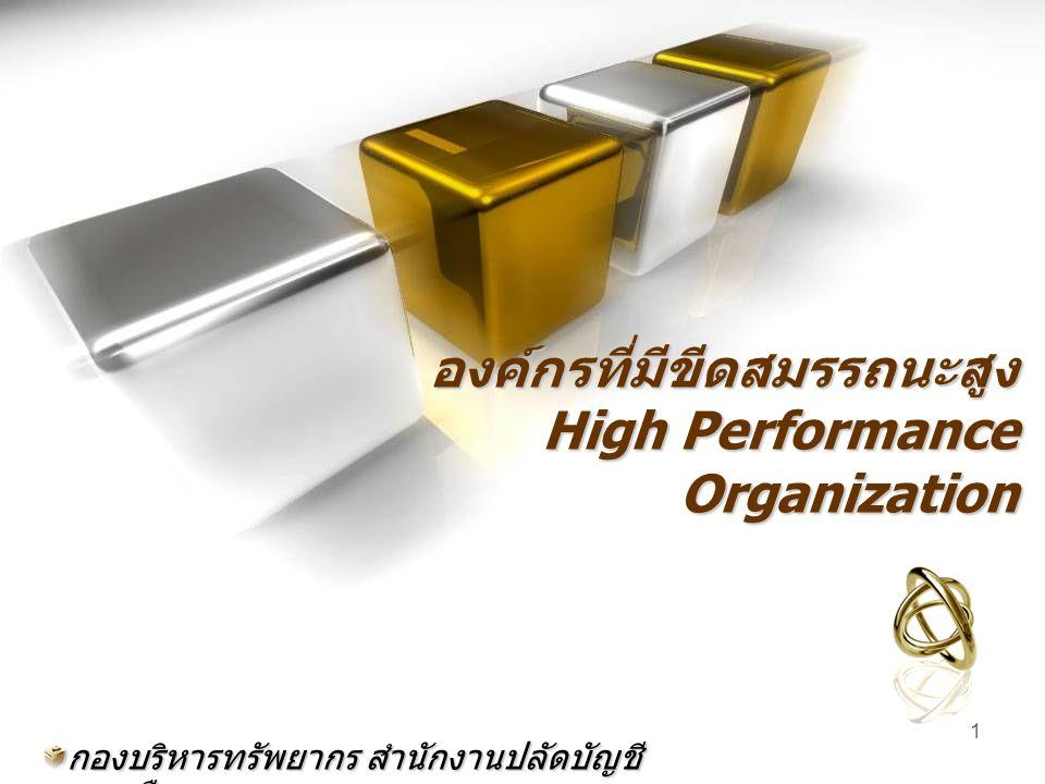 องค์กรที่มีขีดสมรรถนะสูง High Performance Organization