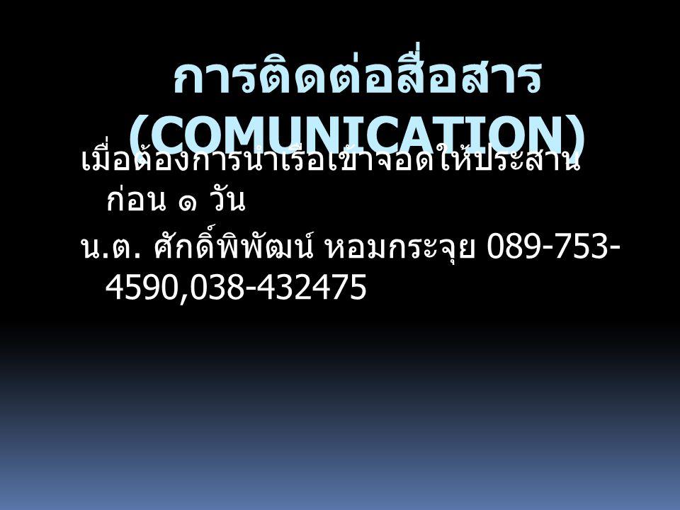 การติดต่อสื่อสาร (COMUNICATION)