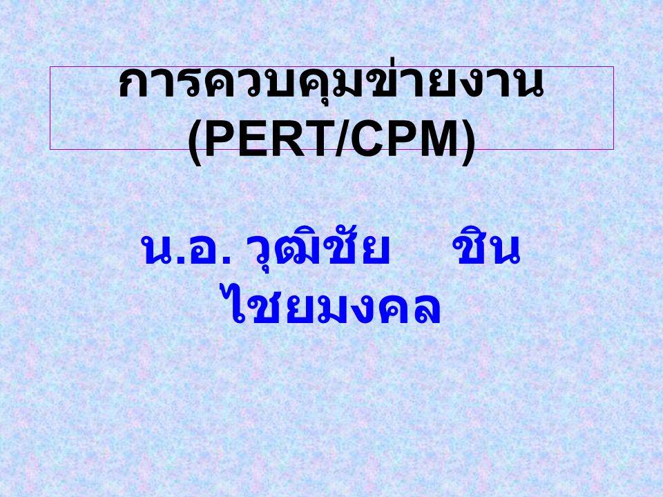 การควบคุมข่ายงาน (PERT/CPM)