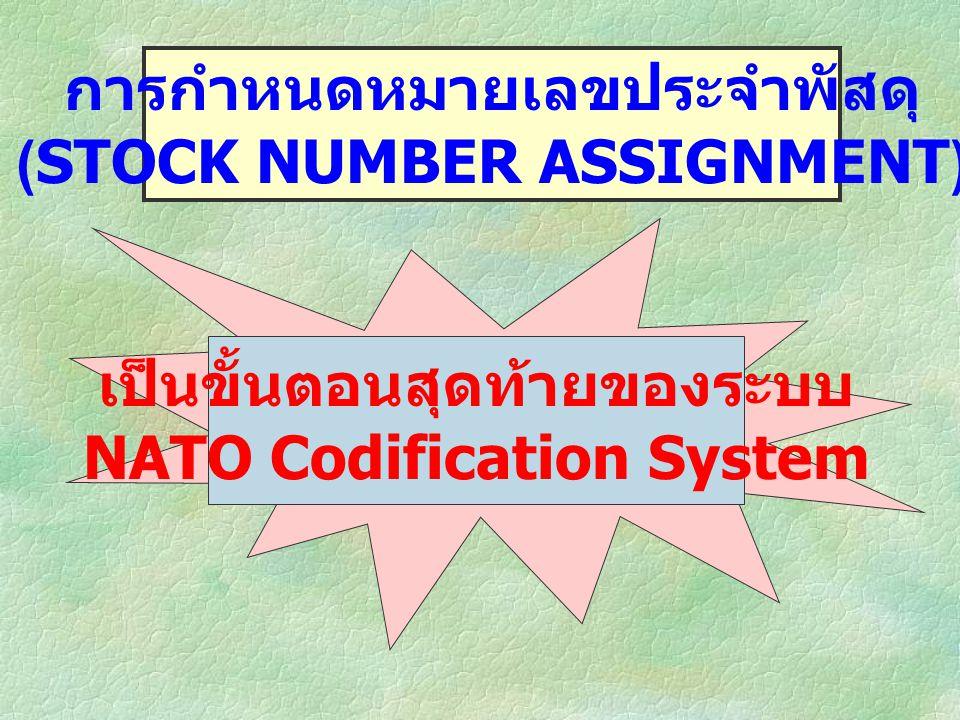 การกำหนดหมายเลขประจำพัสดุ (STOCK NUMBER ASSIGNMENT)