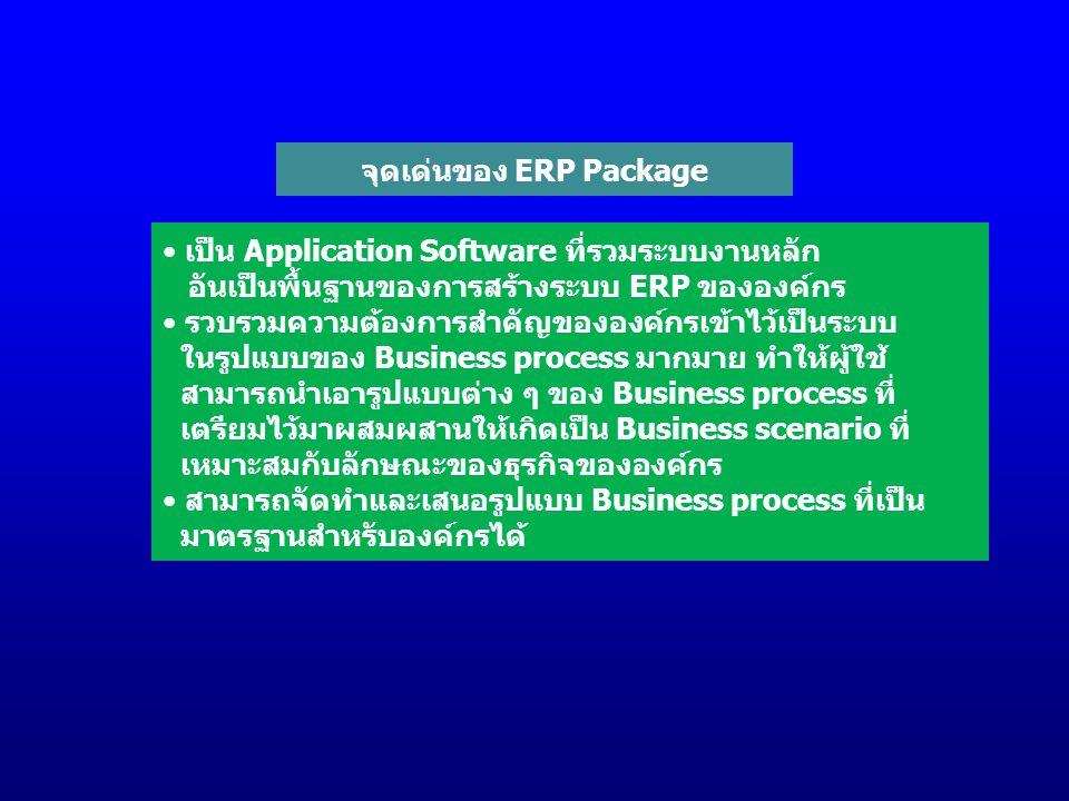 จุดเด่นของ ERP Package