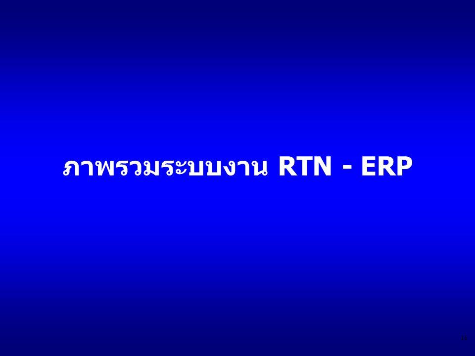 ภาพรวมระบบงาน RTN - ERP