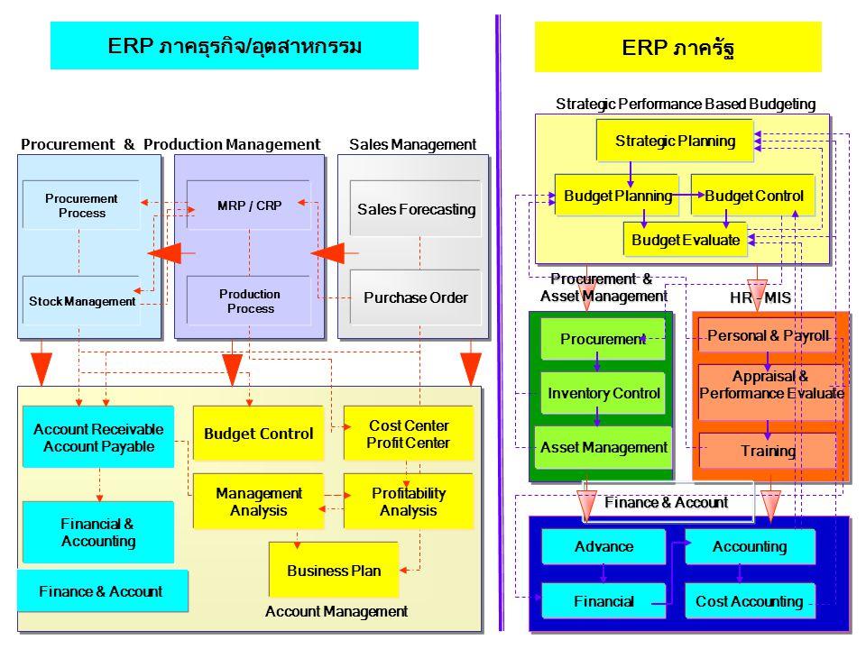 ERP ภาคธุรกิจ/อุตสาหกรรม ERP ภาครัฐ
