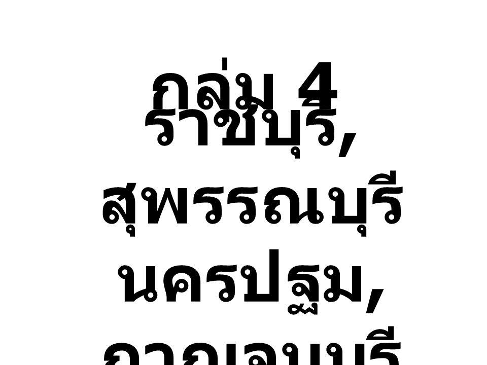 ราชบุรี, สุพรรณบุรี นครปฐม, กาญจนบุรี