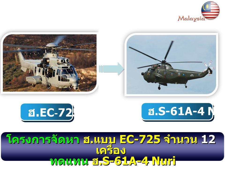 โครงการจัดหา ฮ.แบบ EC-725 จำนวน 12 เครื่อง