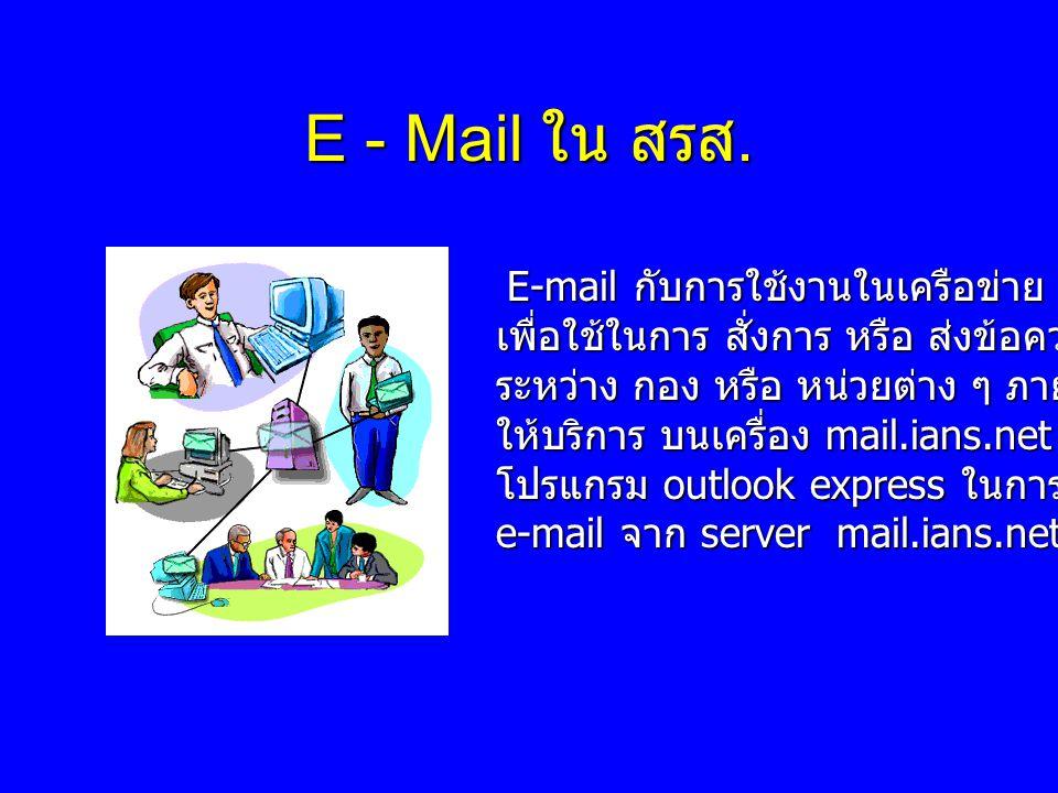 E - Mail ใน สรส. E-mail กับการใช้งานในเครือข่าย ians.net