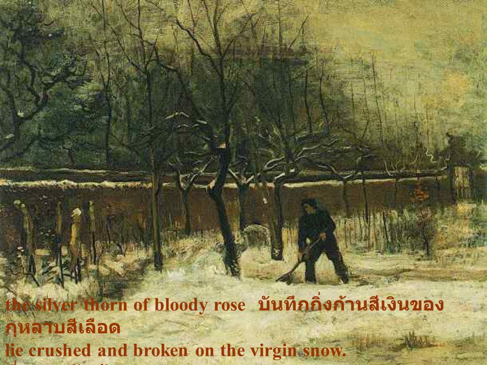 the silver thorn of bloody rose บันทึกกิ่งก้านสีเงินของกุหลาบสีเลือด