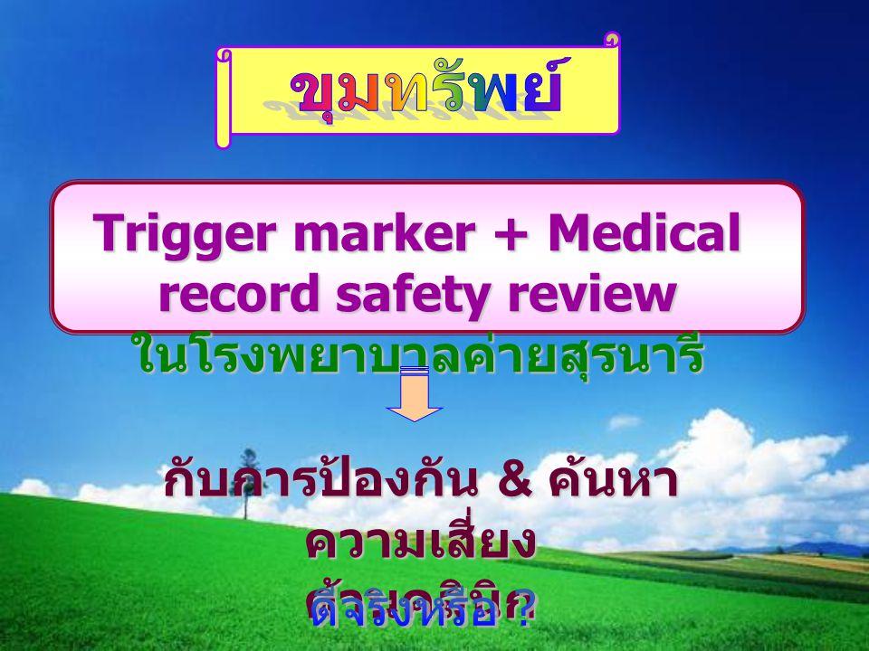 Trigger marker + Medical record safety review ในโรงพยาบาลค่ายสุรนารี