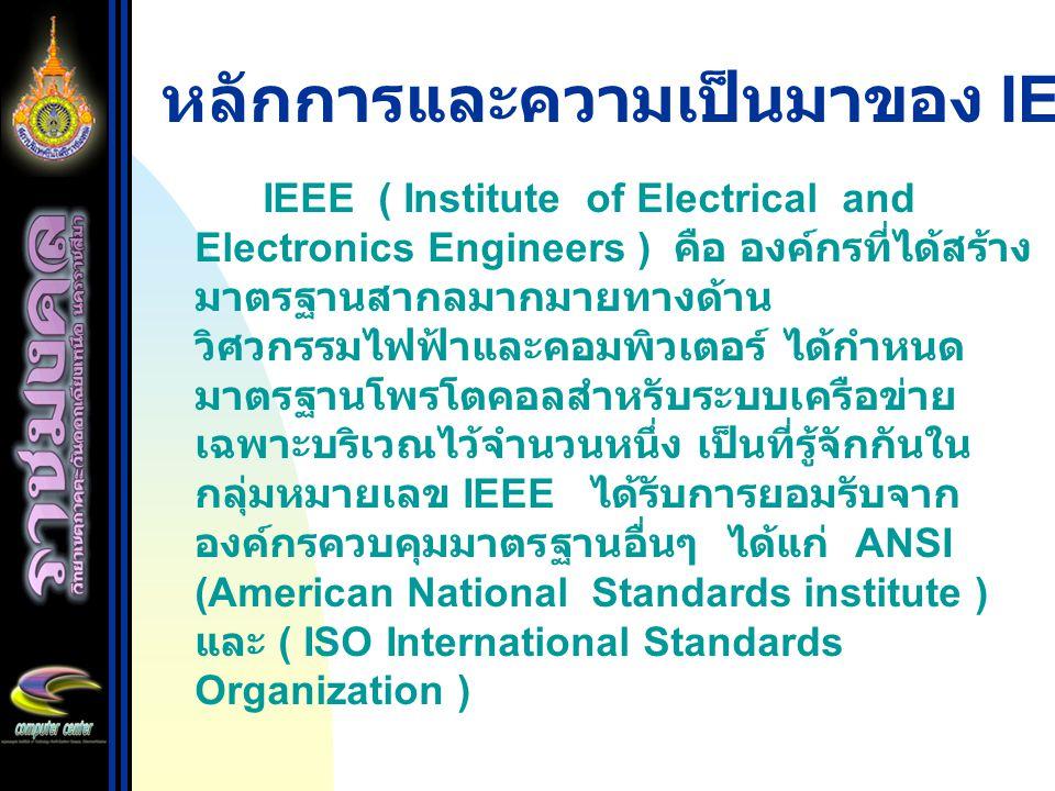 หลักการและความเป็นมาของ IEEE 802.X