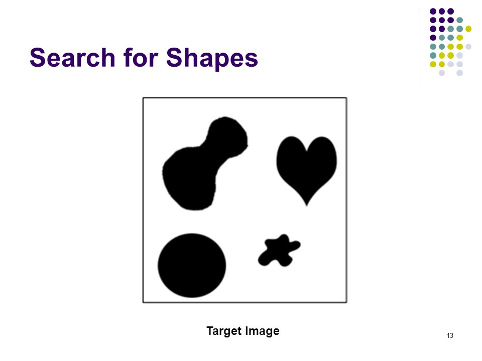 Search for Shapes Target Image