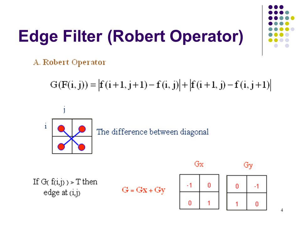 Edge Filter (Robert Operator)