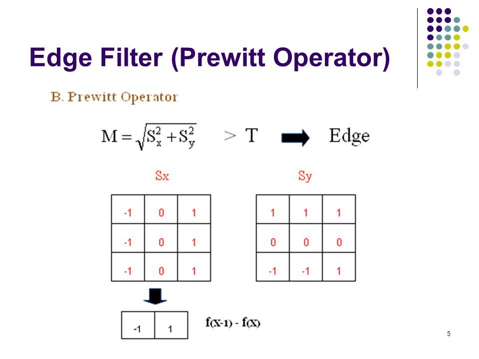 Edge Filter (Prewitt Operator)