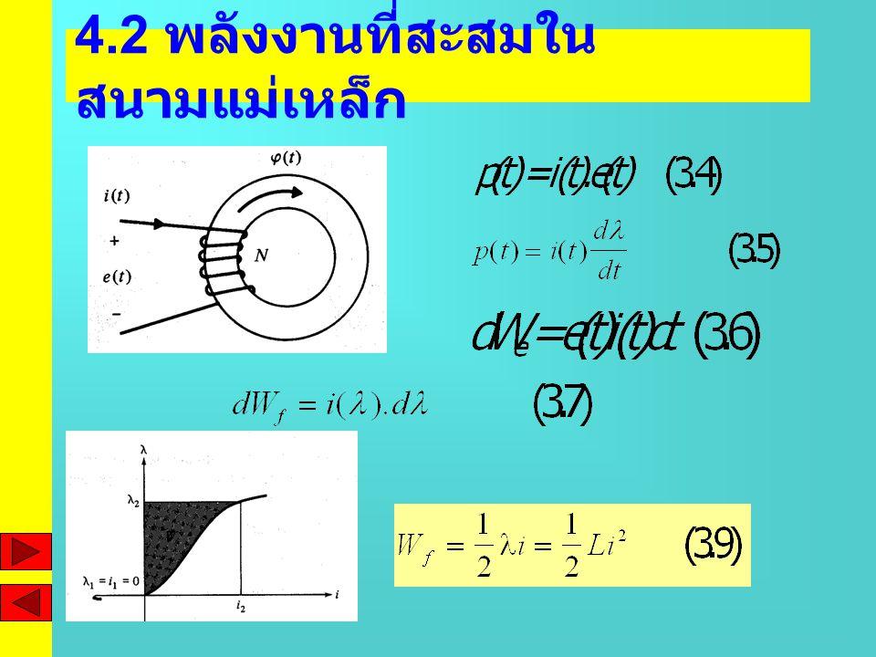 4.2 พลังงานที่สะสมในสนามแม่เหล็ก