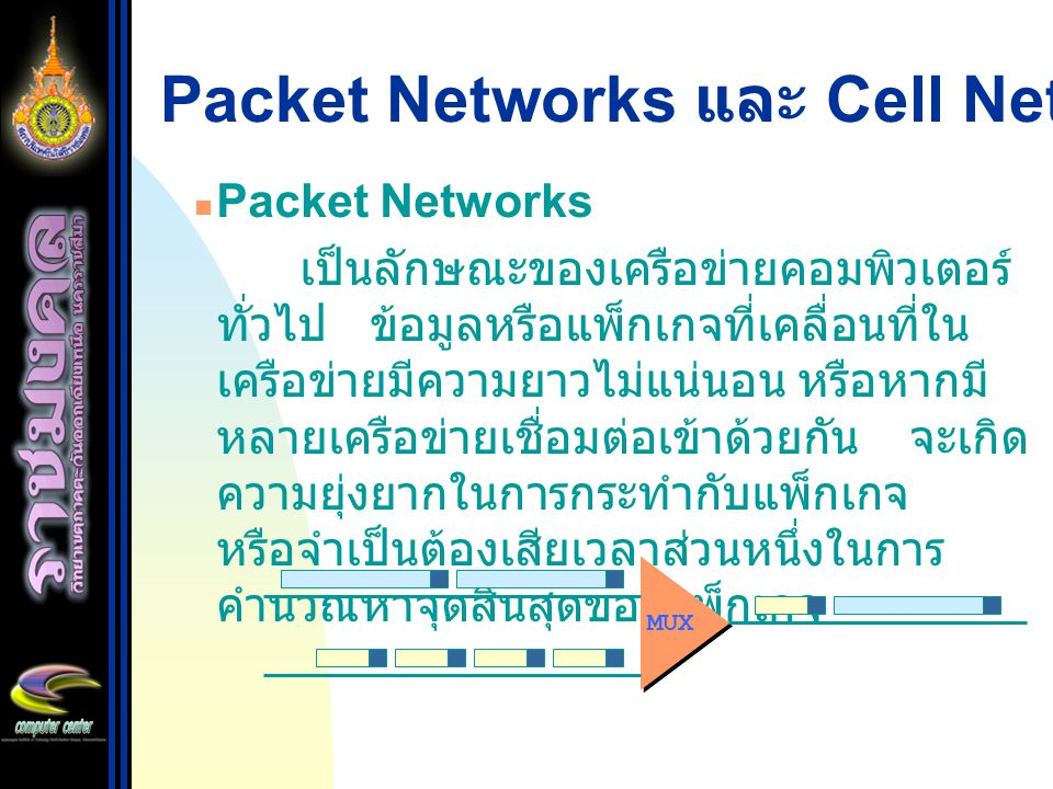 Packet Networks และ Cell Networks