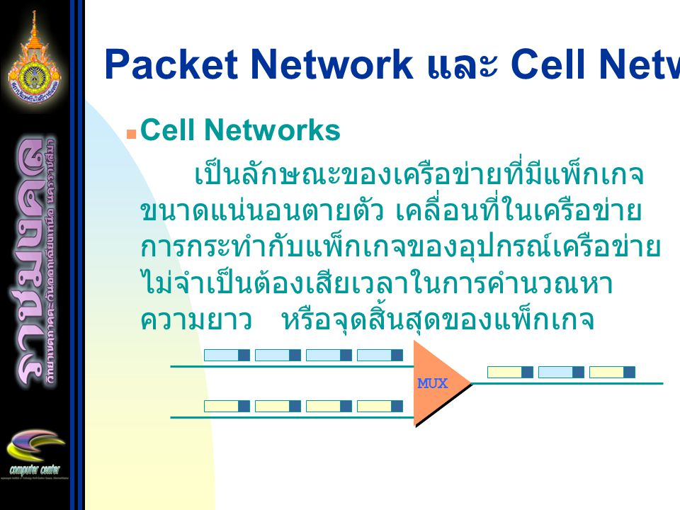 Packet Network และ Cell Network