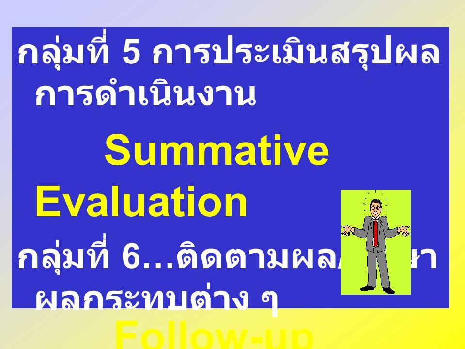 Impacts Studies กลุ่มที่ 5 การประเมินสรุปผลการดำเนินงาน