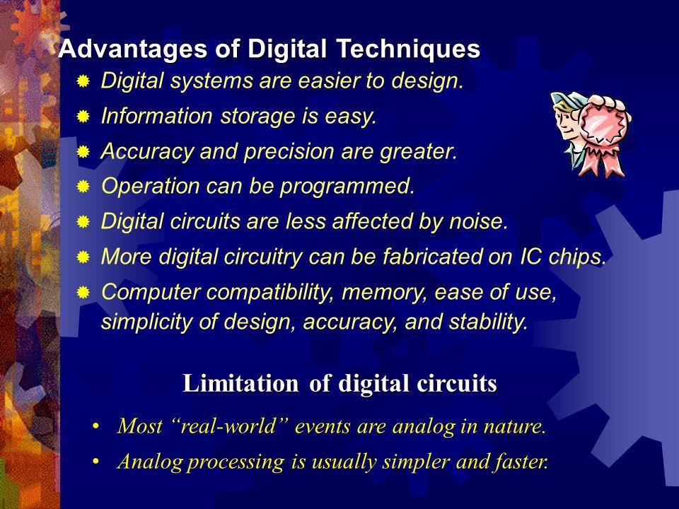 Limitation of digital circuits