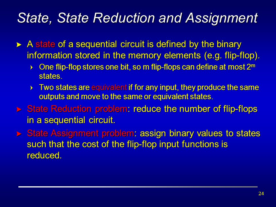 State, State Reduction and Assignment