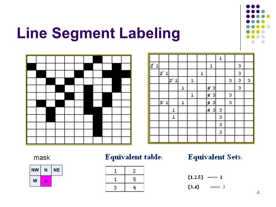 Line Segment Labeling mask