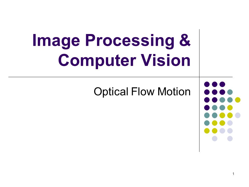 Image Processing & Computer Vision