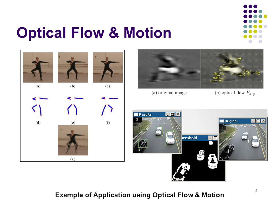 Optical Flow & Motion Example of Application using Optical Flow & Motion
