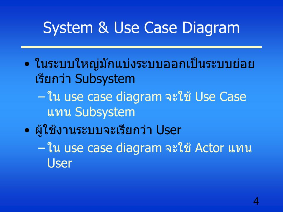 System & Use Case Diagram