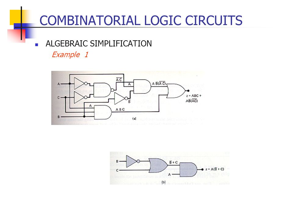 COMBINATORIAL LOGIC CIRCUITS