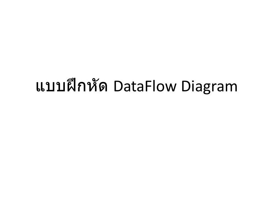 แบบฝึกหัด DataFlow Diagram