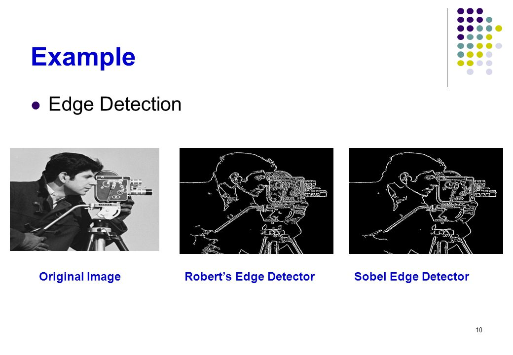 Example Edge Detection Original Image Robert's Edge Detector