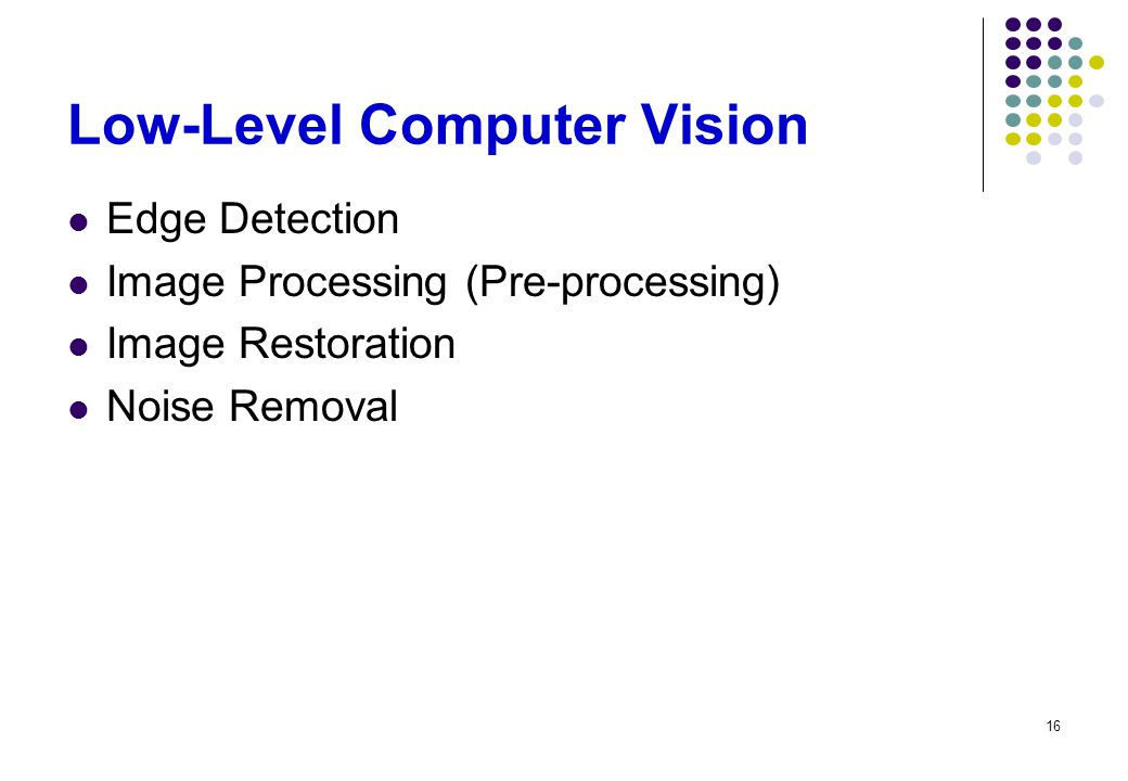 Low-Level Computer Vision