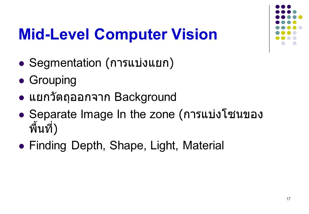 Mid-Level Computer Vision