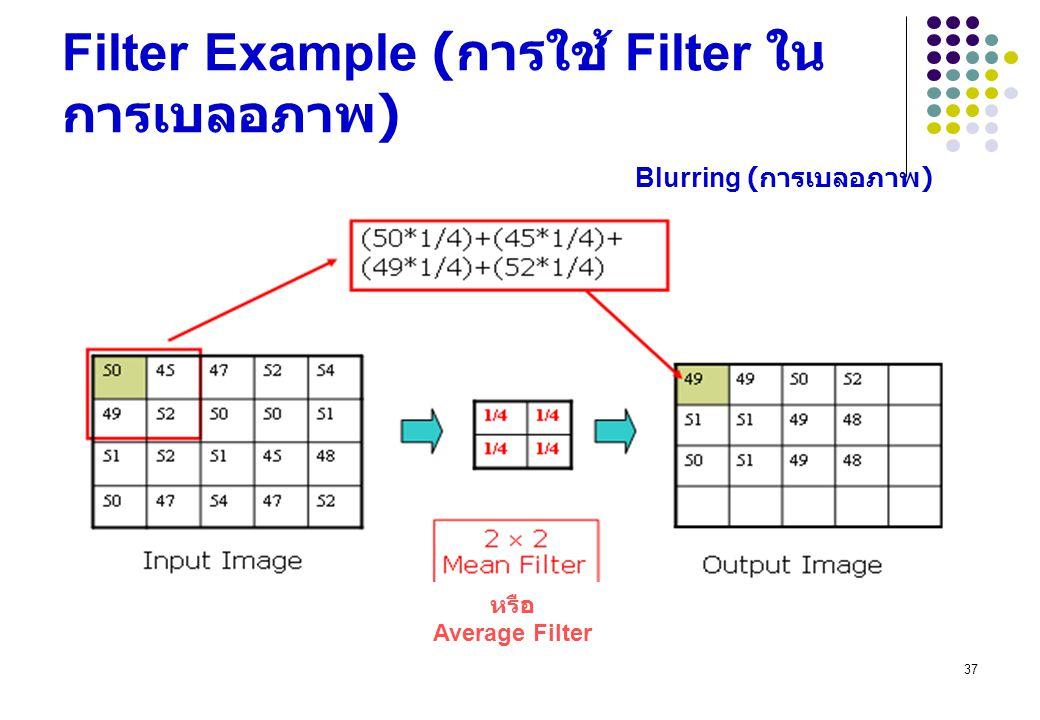 Filter Example (การใช้ Filter ในการเบลอภาพ)