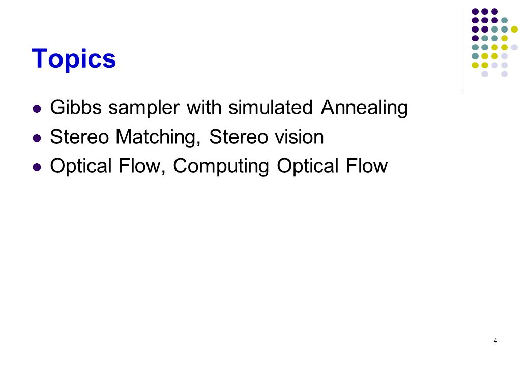 Topics Gibbs sampler with simulated Annealing
