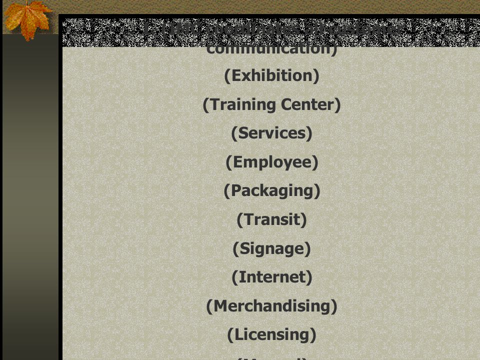 1. (IMC coordinates all customer communication)