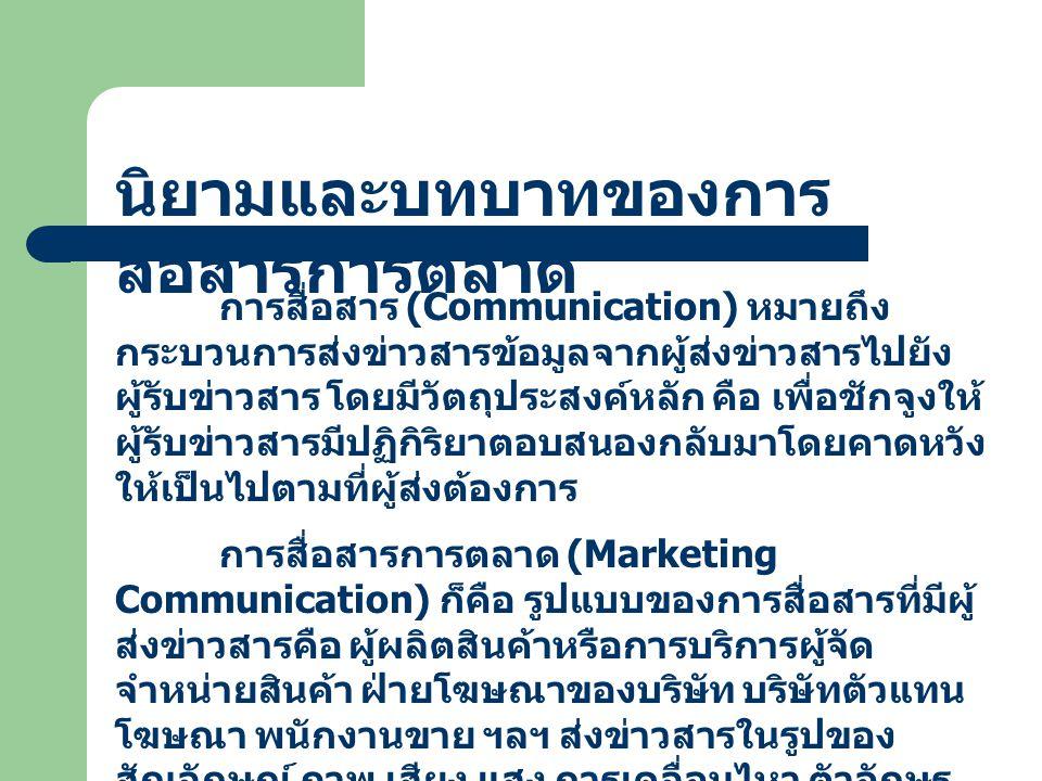 นิยามและบทบาทของการสื่อสารการตลาด