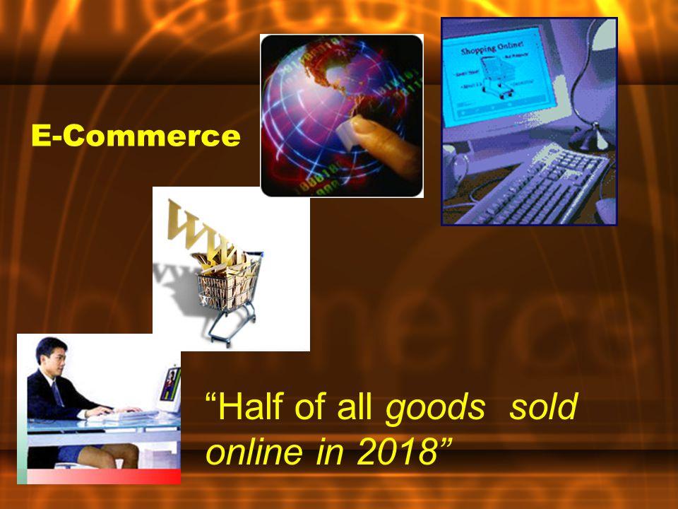 Half of all goods sold online in 2018