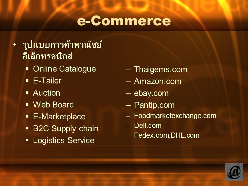 e-Commerce รูปแบบการค้าพาณิชย์อีเล็กทรอนิกส์ Online Catalogue