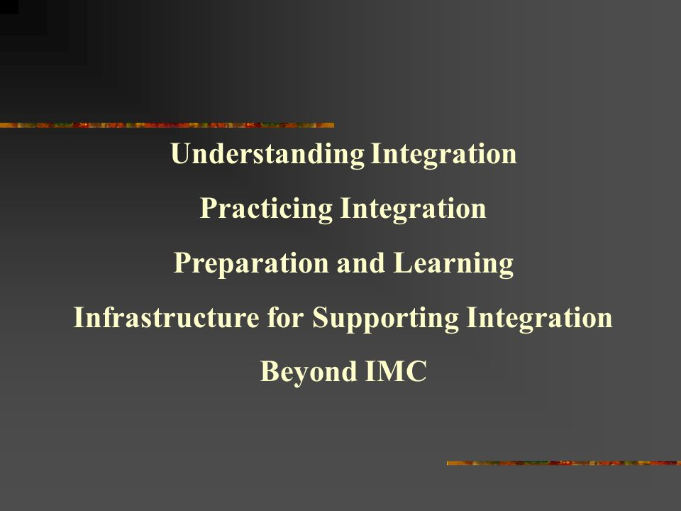 Understanding Integration Practicing Integration