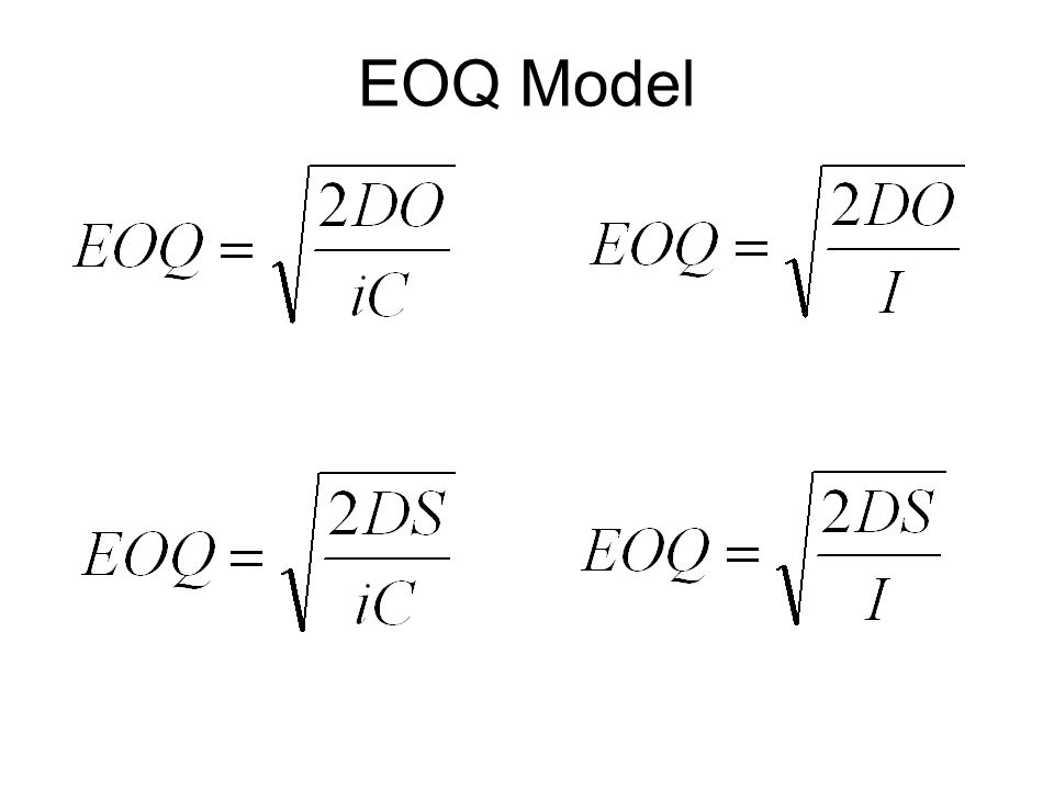 EOQ Model Order by purchasing Order by producing
