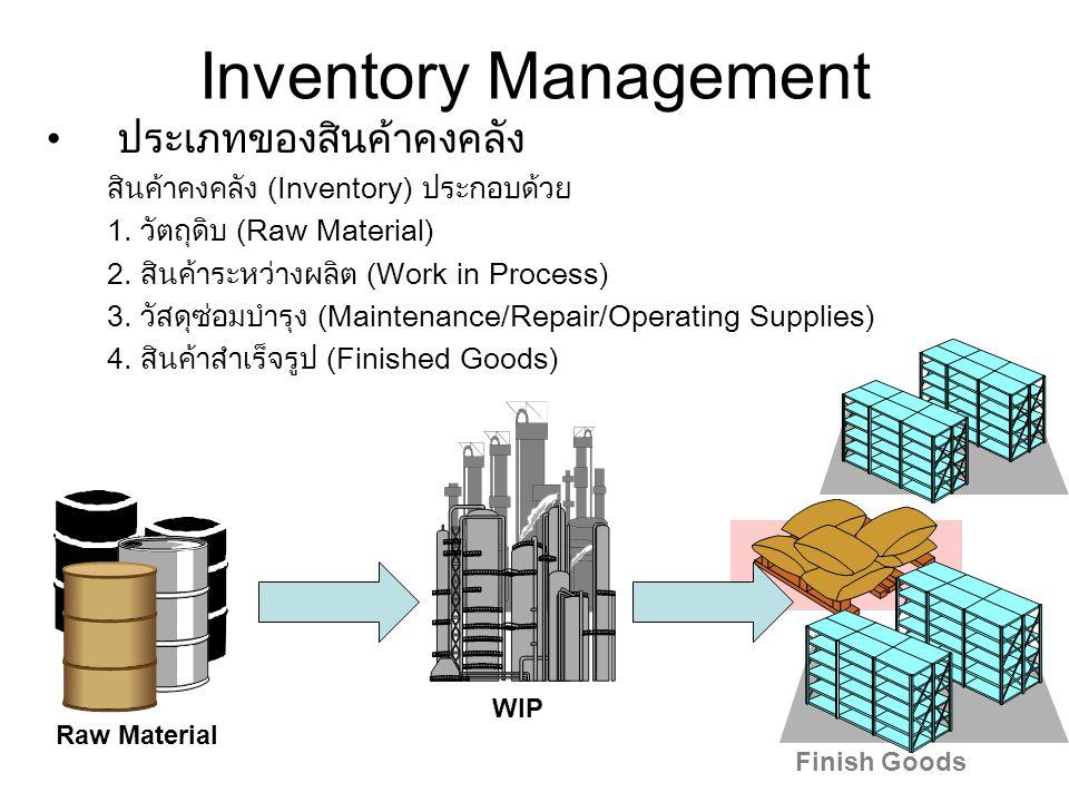 Inventory Management ประเภทของสินค้าคงคลัง