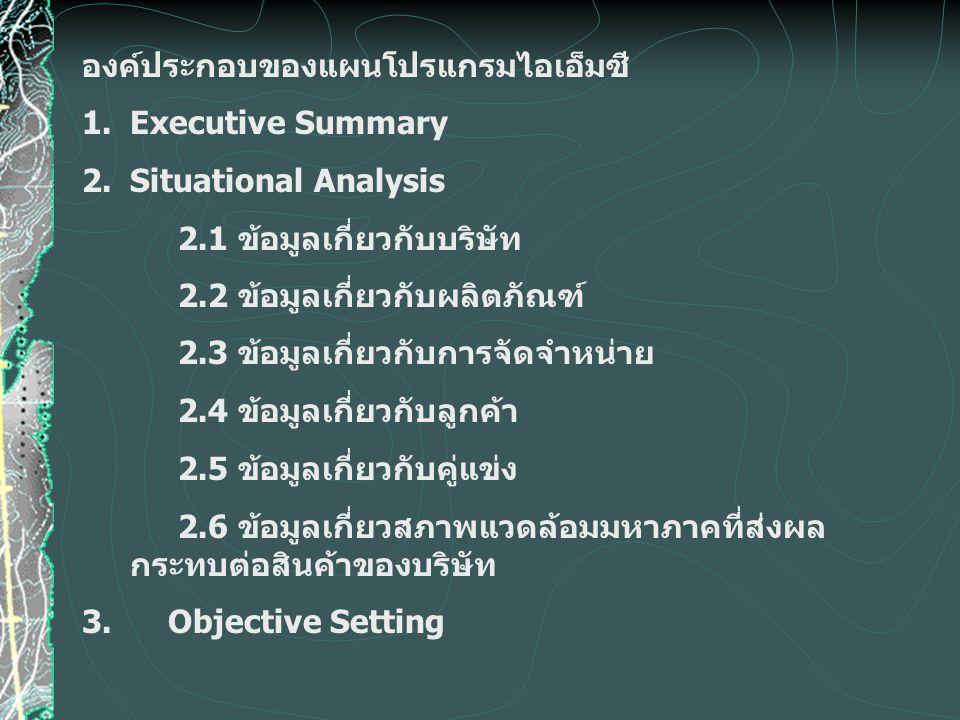 องค์ประกอบของแผนโปรแกรมไอเอ็มซี