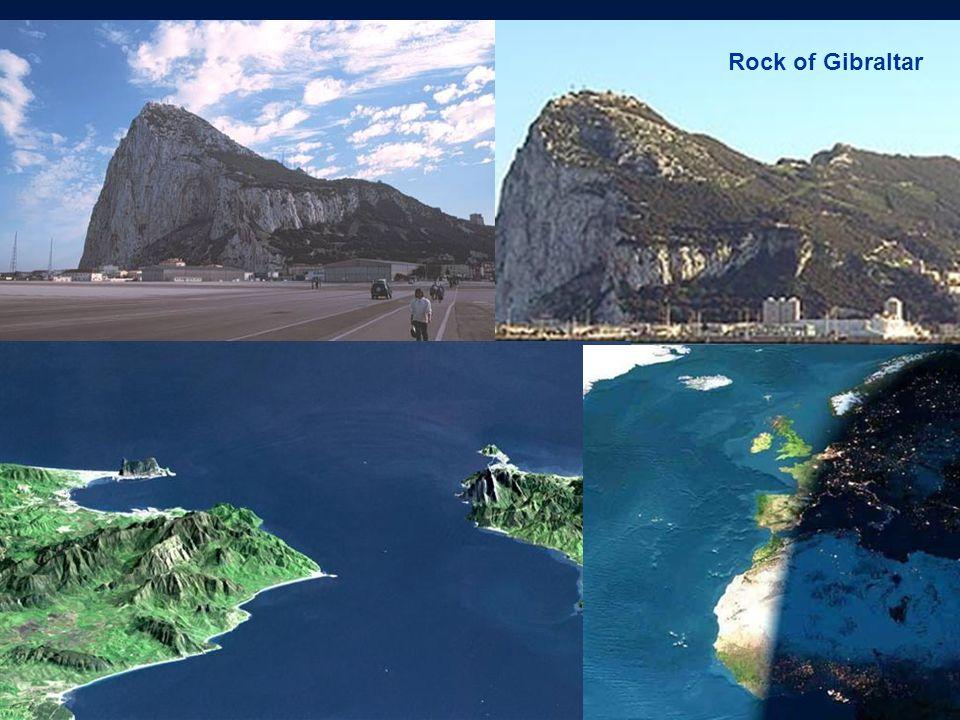 Rock of Gibraltar Strait of Gibraltar
