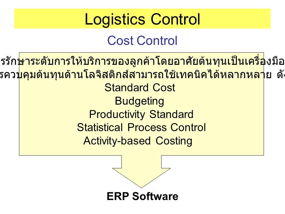 Logistics Control Cost Control